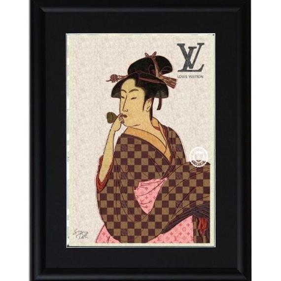 A4 ポスターフレームセット  【 UTAMARO ART 喜多川歌麿 オマージュ #sh01 】