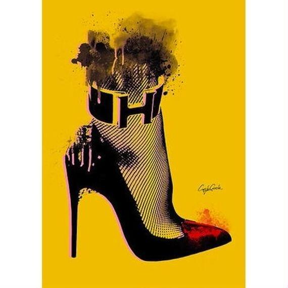 キャンバス 530×410×D20mm 【 High heel 】