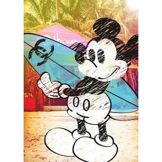 キャンバス410×273×D20mm 【 Mickey Surf #hi28 】