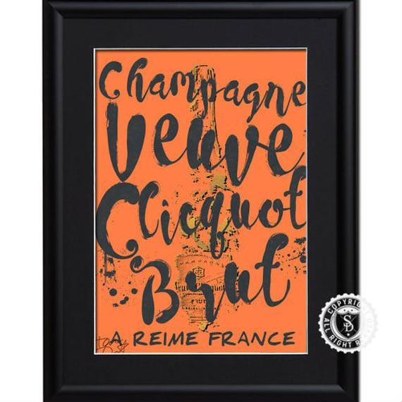 A4 ポスターフレームセット  【Veuve Clicquot #td30】