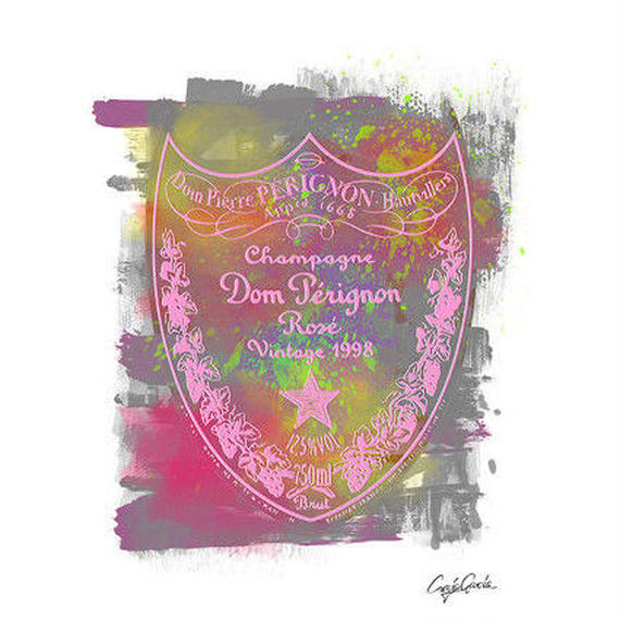 キャンバス 410×273×D20mm 【 DOM PERIGNON ROSE 】