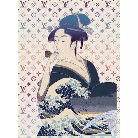 キャンバス530×410×D20mm【 UTAMARO & HOKUSAI #sh25 】