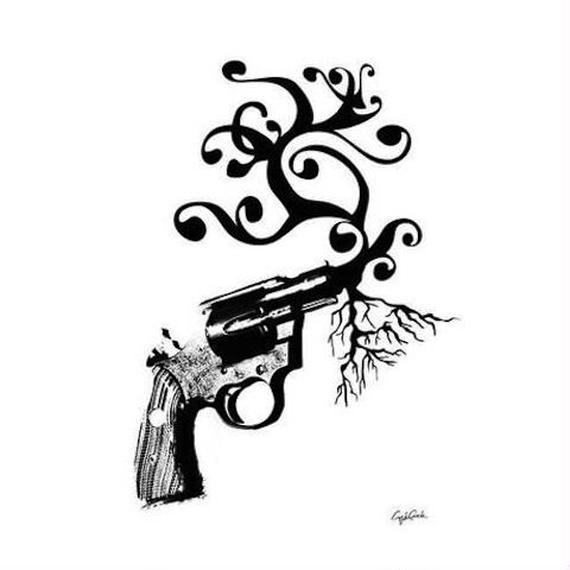 キャンバス 530×410×D20mm 【 tree gun 】