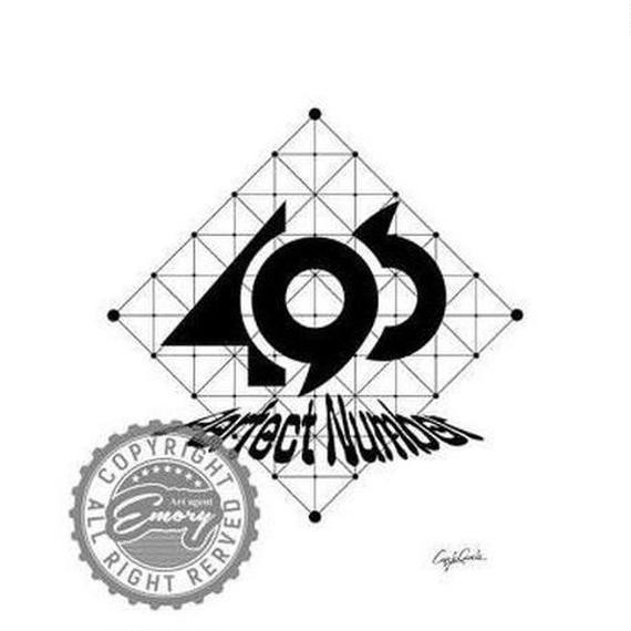 キャンバス 530×410×D20mm 【 perfect number B 】