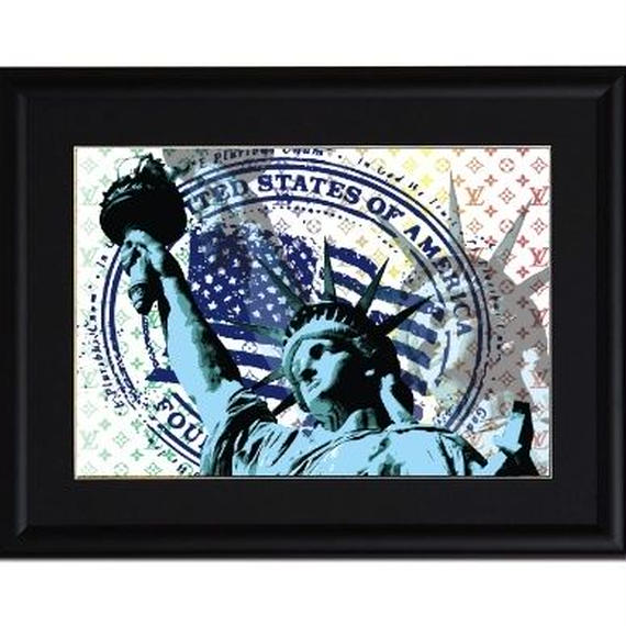 A4 ポスターフレームセット 【 Statue of Liberty #er21 】