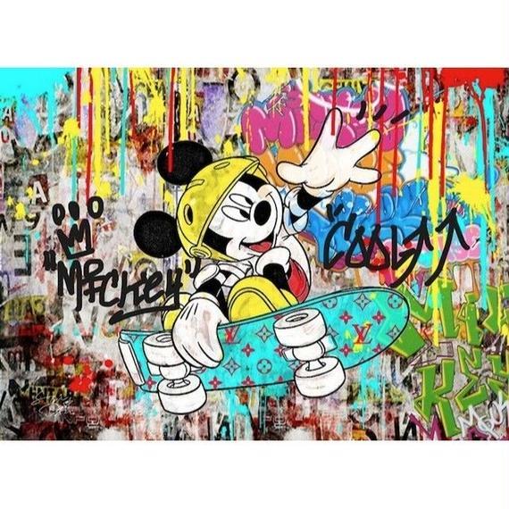 キャンバス530×410×D20mm 【 Micky Street #td40】