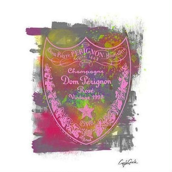 キャンバス 727×530×D20mm 【 DOM PERIGNON ROSE 】