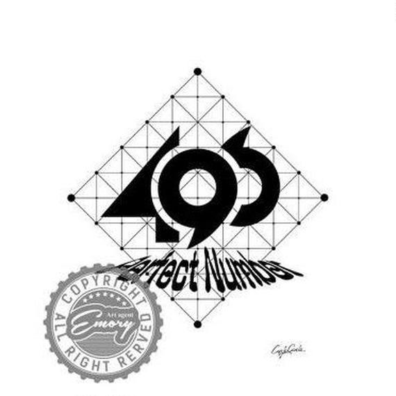 キャンバス 410×273×D20mm 【 perfect number B 】