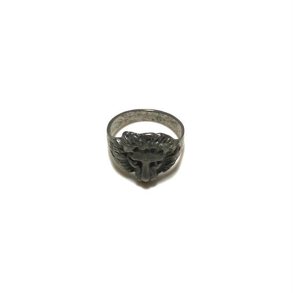 【USED】LION PINKY RING