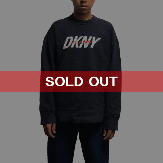 【USED】90'S  DKNY JEANS OLD SWEATSHIRT