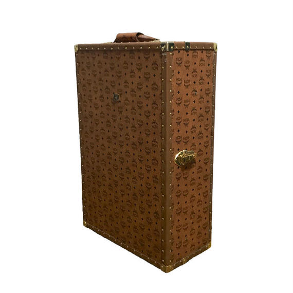 【USED】80'S MCM MONOGRAM TRUNK CASE