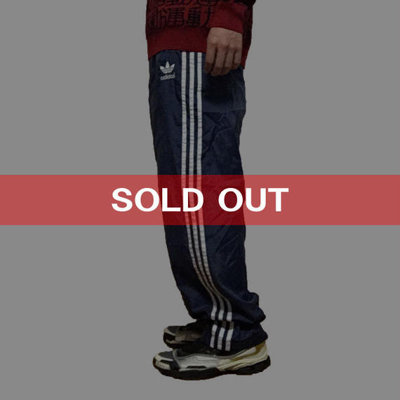 【USED】90'S ADIDAS NYLON TRACK PANTS NAVY