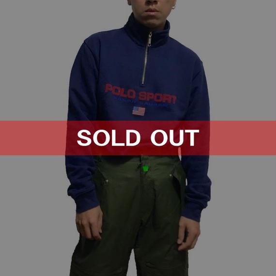 【USED】90'S POLO SPORT HI-NECK SWEATSHIRT