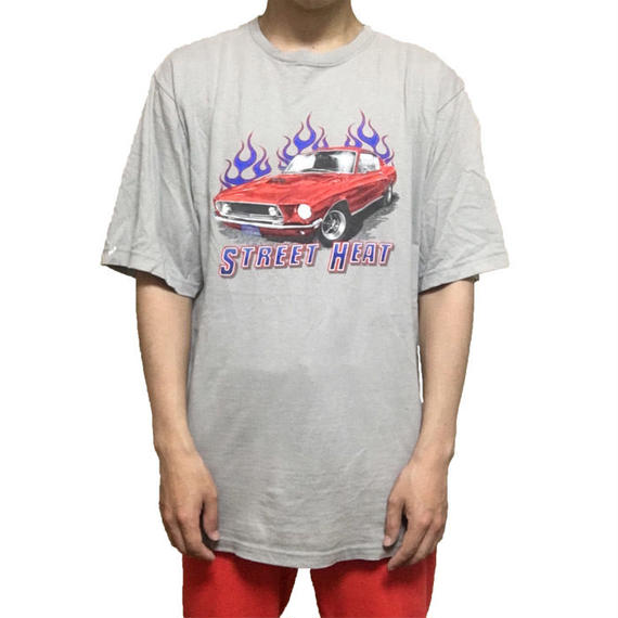 【USED】FIRE & AMERICAN CAR T-SHIRT