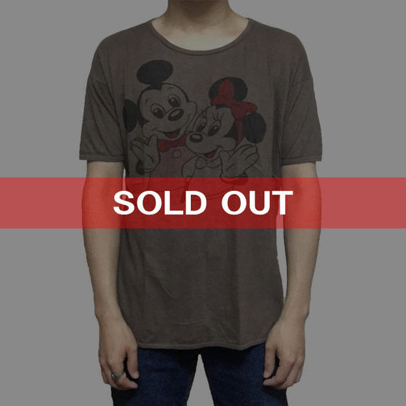 【USED】VINTAGE BOOTLEG MICKEY & MINNEY T-SHIRT