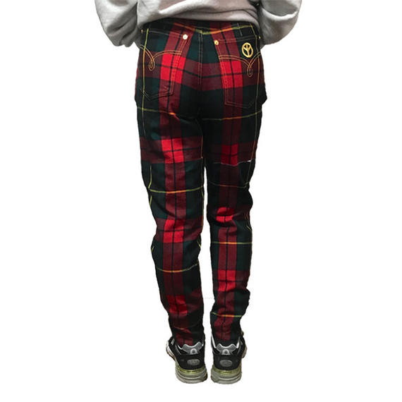 【USED】80'S MOSCHINO JEANS TARTAN WOOL TROUSERS