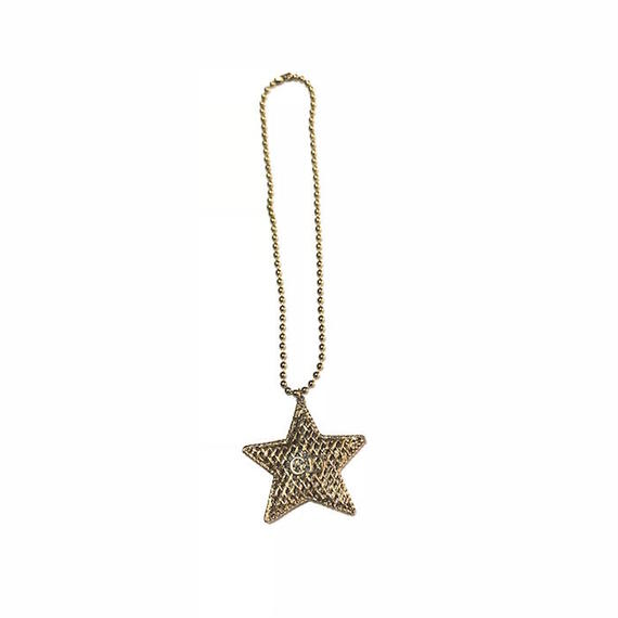 【USED】VINTAGE  BOOTLEG CHRISTIAN DIOR STAR MOTIF NECKLACE