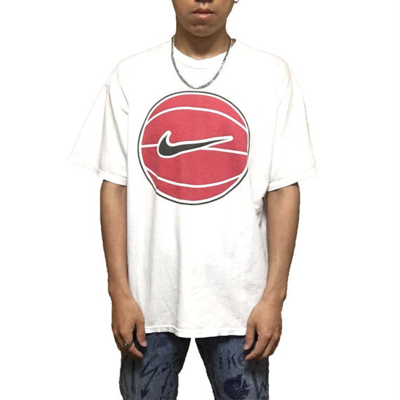 【USED】90'S NIKE BASKETBALL LOGO T-SHIRT
