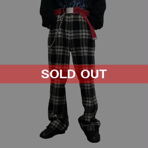 【USED】70'S CHECK WOOL TROUSERS