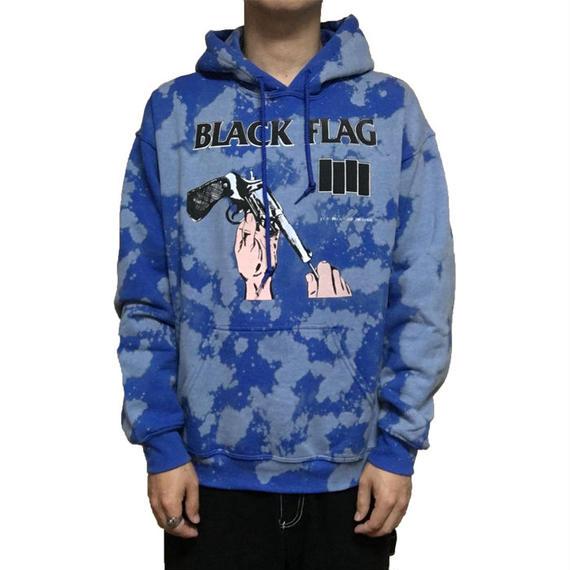 【USED】00'S BLACK FLAG BLEACHED HOODIE