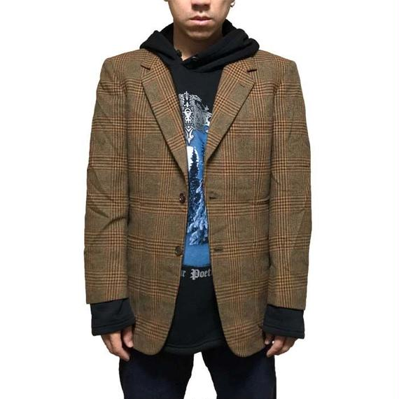 【USED】70'S WOOL CHECK TAILORED JACKET
