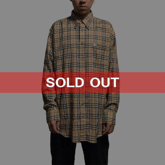 【USED】BURBERRY LONDON NOVA CHECK B.D SHIRT