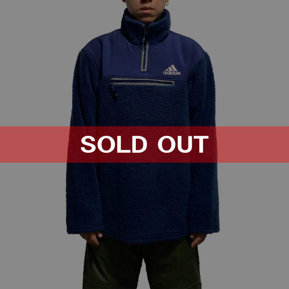 【USED】00'S  ADIDAS HIGH TECH FLEECE TOP