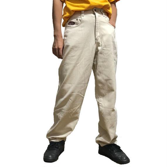 【USED】90'S VANS WHITE DENIM PANTS