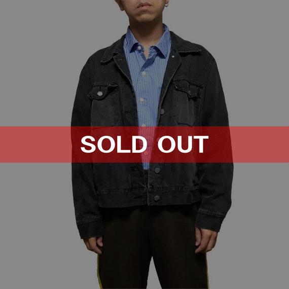 【USED】90'S NY JEANS DENIM JACKET BLACK