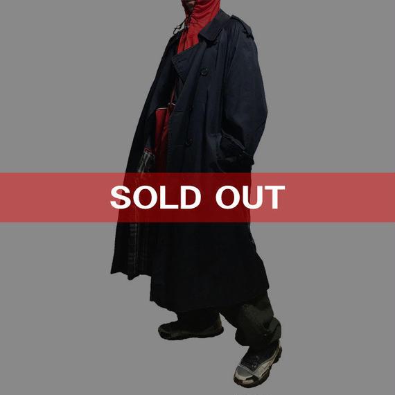 【USED】90'S BURBERRYS OVERSIZED TRENCH COAT NAVY