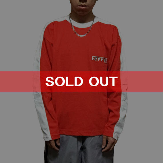 【USED】FERRARI L/S T-SHIRT