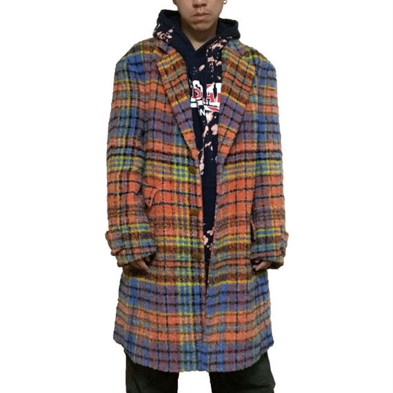 【USED】90'S VIVIENNE WESTWOOD MAN CHECK ALPACA COAT
