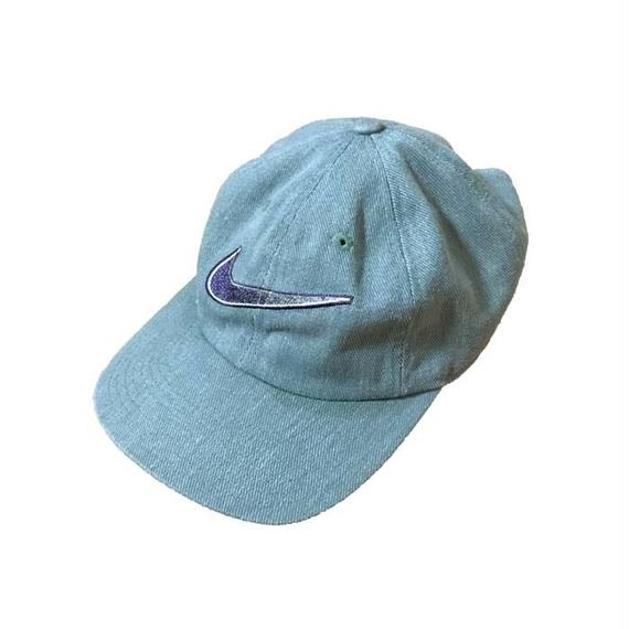 【USED】90'S NIKE SWOOSH EMBROIDERY CAP GL AY