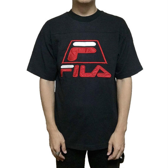 【USED】90'S FILA EMBROIDERY LOGO T-SHIRT