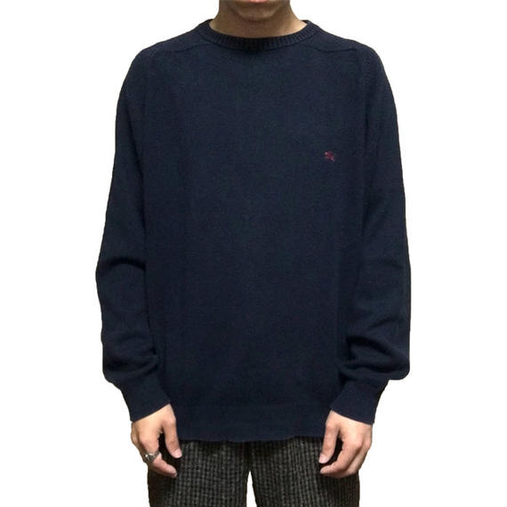 【USED】BURBERRY COTTON KNIT SWEATER