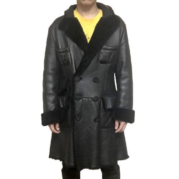 【USED】90'S VIVIENNE WESTWOOD GOLD LABEL MEN'S MOUTON COAT BLACK