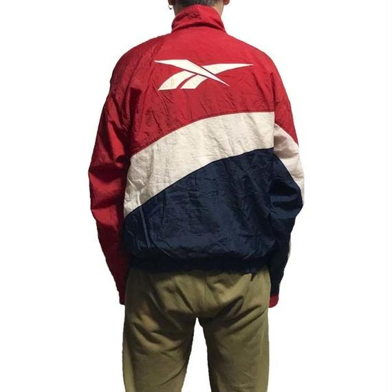 【USED】90'S REEBOK TRICOLOR NYLON JACKET