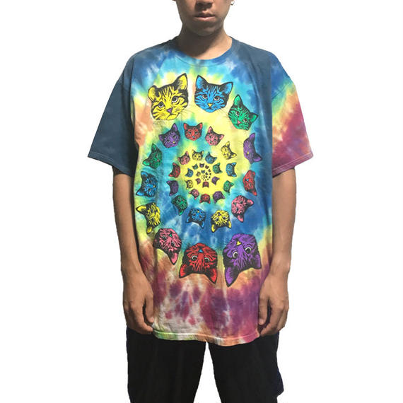【USED】00'S DEAD CAT TIE DYE T-SHIRT