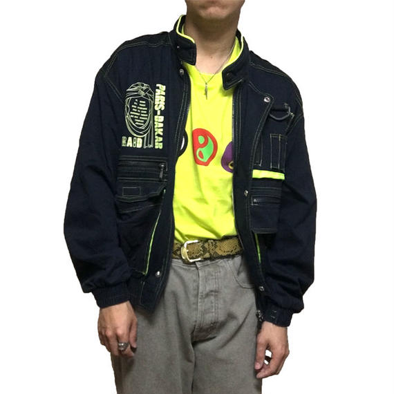 【USED】80'S PARIS-DAKAR BOMBER BLOUSON MADE BY MIZUNO