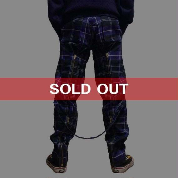 【USED】90'S VIVIENNE WESTWOOD GOLD LABEL MCPOIRET PLAID BONDAGE TROUSERS