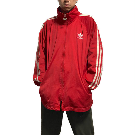 【USED】90'S ADIDAS OLD TRACK JACKET RED