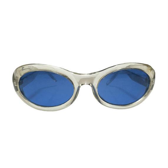 【DEAD STOCK】90'S ITALIAN DESIGN CYBER CLEAR GLASSES