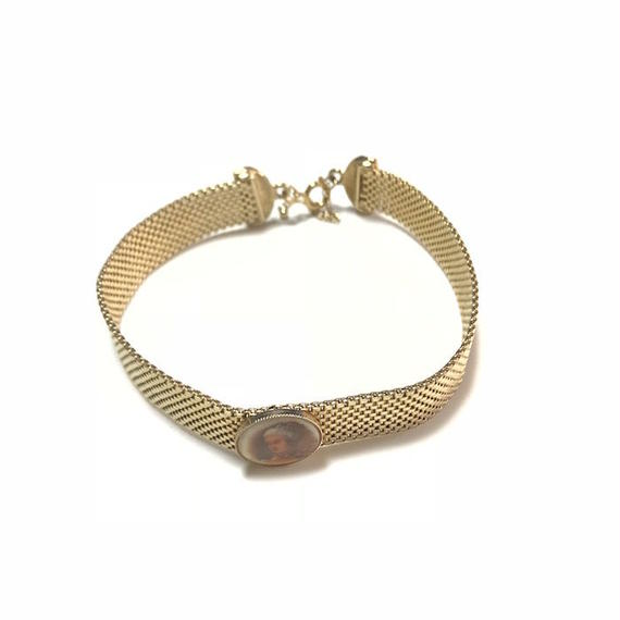【USED】VINTAGE GOLD MESH BAND CHOKER