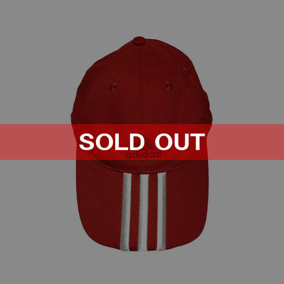 【USED】00'S ADIDAS 3STRIPS LOGO CAP RED