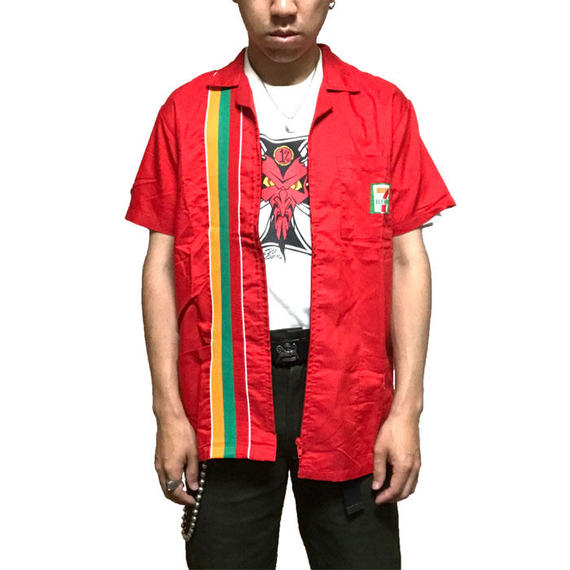 【USED】00'S 7-ELEVEN STAFF SHIRT