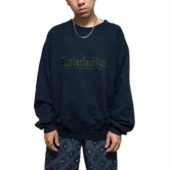【USED】90'S TIMBERLAND EMBROIDERY SWEATSHIRT