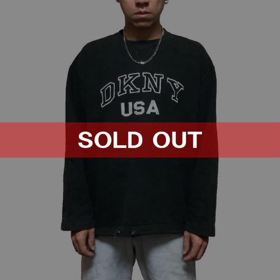 【USED】90'S DKNY USA SWEATSHIRT BK