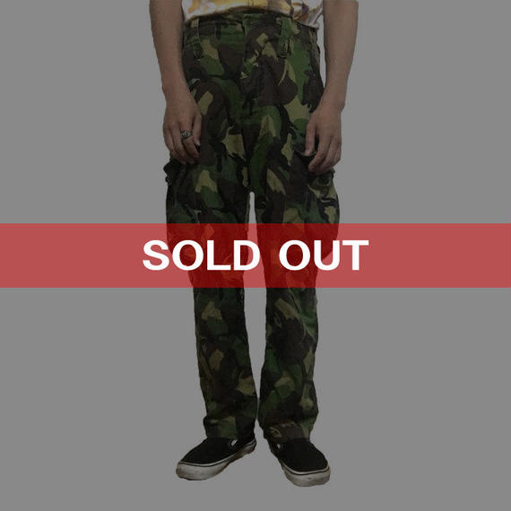 【USED】CAMOUFLAGE PANTS