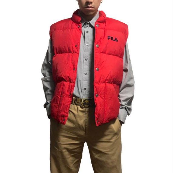 【USED】90'S FILA DOWN VEST