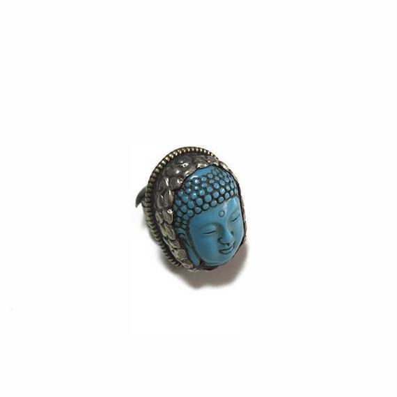 【USED】VINTAGE TURQUOISE BUDDHA RING